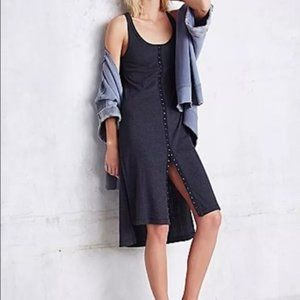 Free People Drop Needle Rib Gray Dress M